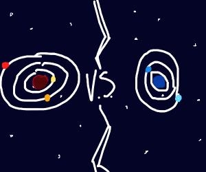 Solar system fight