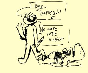 elmo murders barney the dinosaur