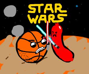 Star Wars: Basketballs vs. Sausages on Mars