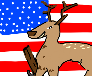 America: Deer with a shotgun