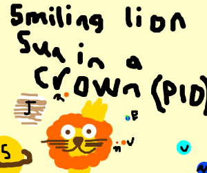 smiling lion sun in a crown (PIO)