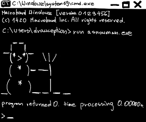 ASCII/Unicode snowman