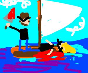 raft man kills sister