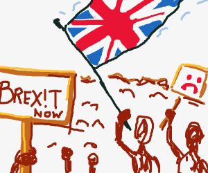 People protesting for the brexit