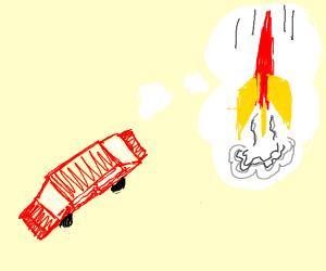 Car dreams of being a rocket