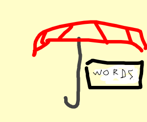 Writing with an Umbrella