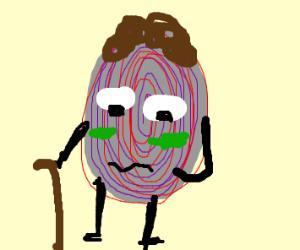 sickly raisin man