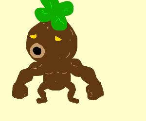 a muscular Deku (Zelda)