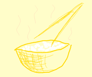 fancy bowl of white rice