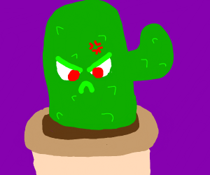 A angry cactus