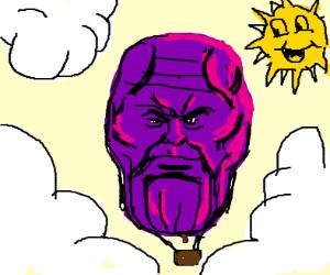 Thanos hot air balloon