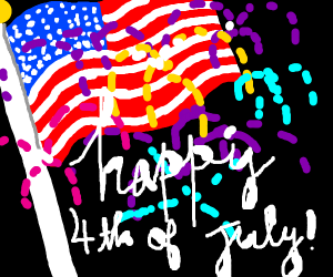 Draw a 4th of July picture