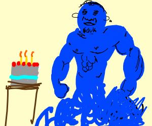a blue dudes birthday