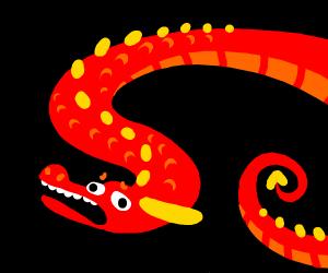 Sad limbless dragon