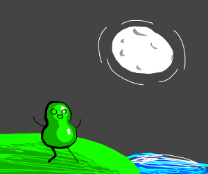 Pear frolicking in the moonlight