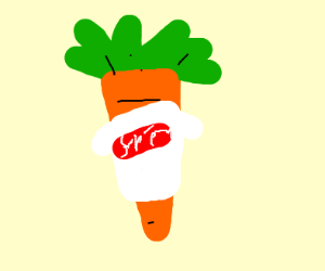 Vegetable wearing a T-Shirt