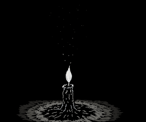 Dark Room With a Candle