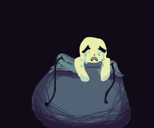 Crying boi in a bag
