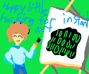 hacker-man bob ross