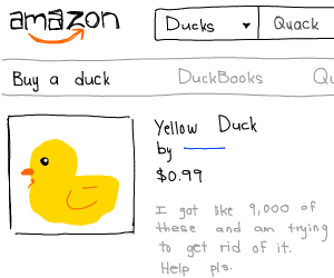 Buy a duck on Amazon!