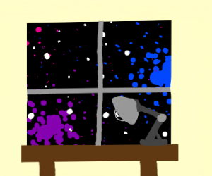 I see the galaxy in my window