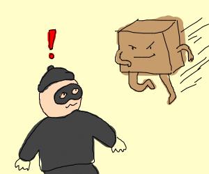 thief became conscious about a box man runnin