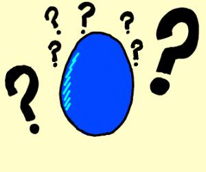 confused blue G egg