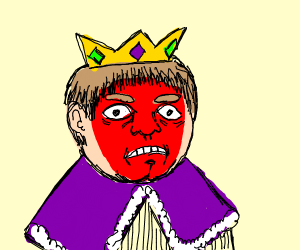 red-faced king
