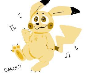 Pikachu dancing