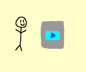 happy stickman receives diamond play button