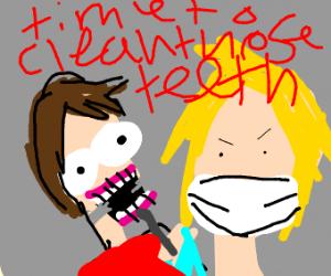 Kid afraid of dentist