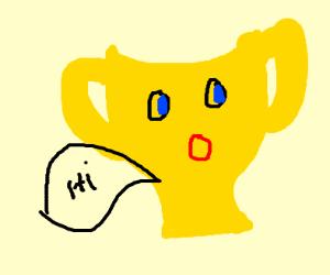 Surprised cuphead says hi