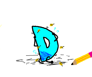 Drawception D getting attacked by bees