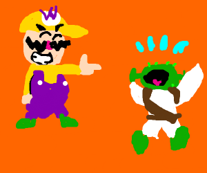 wario taunts child shrek
