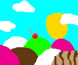 Ice cream as a landscape