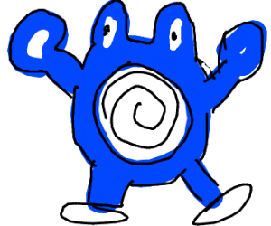 Poliwhirl from pokemon