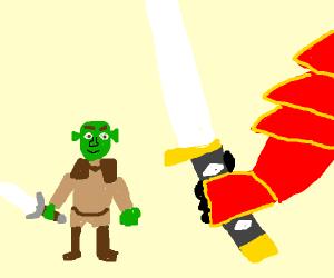 shrek vs samurai