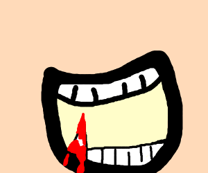 Bloody sharp tooth