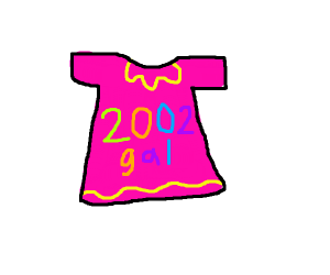 Early 2000s t-shirt aimed at girls