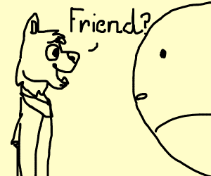 Furry wants to befriend whale