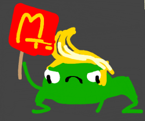 trump frog craving for mcdonalds
