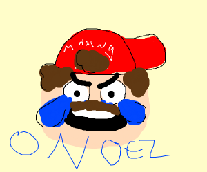 Mario is crying oh no