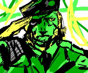A salute from a soilder