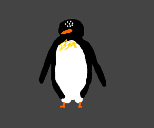 Penguin with 8 eyes