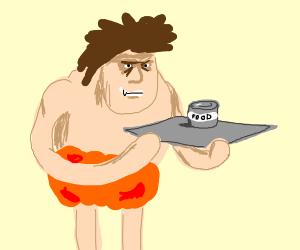 Caveman waiter