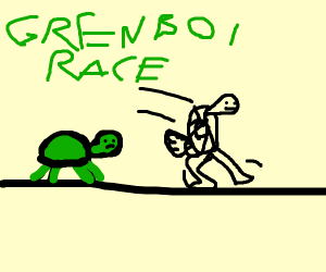 a race between a turtle rabbit and turtle