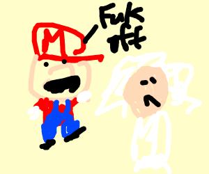 Mario meets Doc Brown