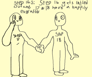 Step 16;I'm cheating on Step 17 Dont tell him