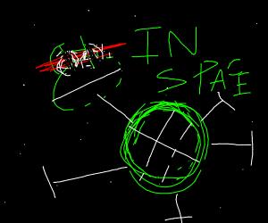 ninja turtle in space