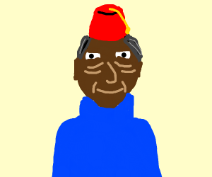 Old man with fez